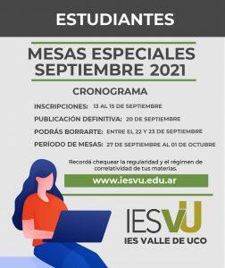 MESAS ESPECIALES SEPT 2021