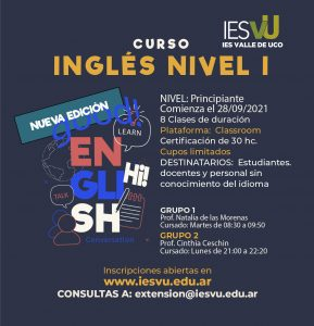 CUROS INGLÉS NIVEL I Septiembre-01