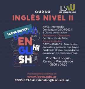 CUROS INGLÉS NIVEL II Septiembre-01-02-02