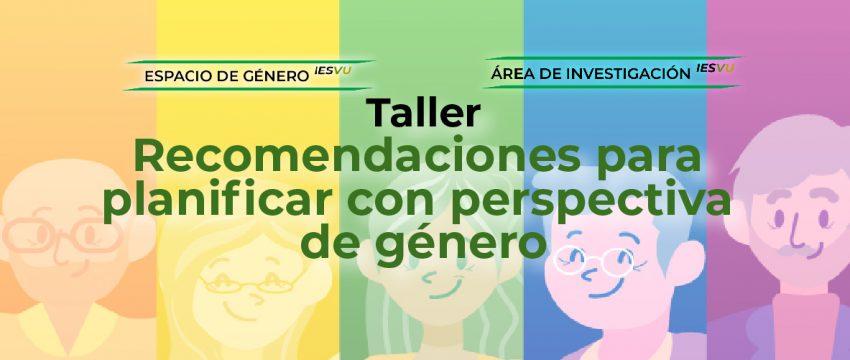 TALLER PLANIFICACIÓN PERSPCTIVA DE GÈNERO 2-02